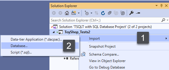 Importing Database to install tSQLt