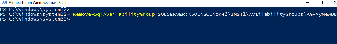 Remove-SqlAvailabilityGroup cmdlet