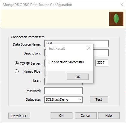 testing odbc connection