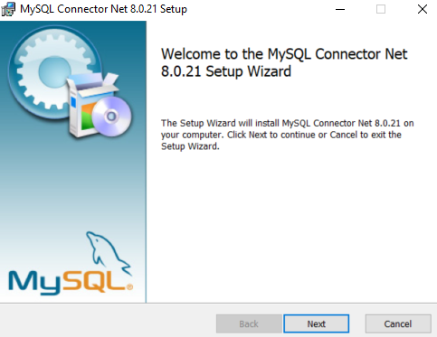 Installing the MySQL connector