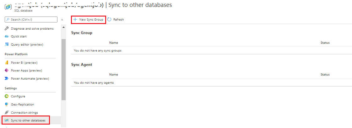 Sync to other database data sync service option