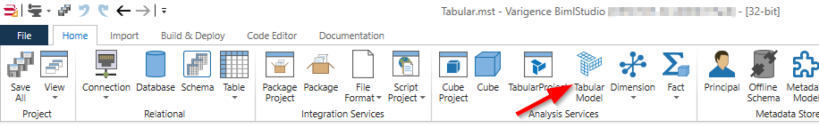 Adding an SSAS tabular model