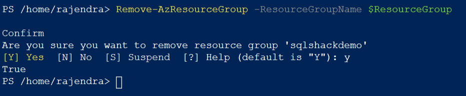 clean up Azure resources