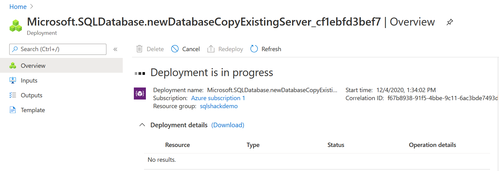 copy database deployment
