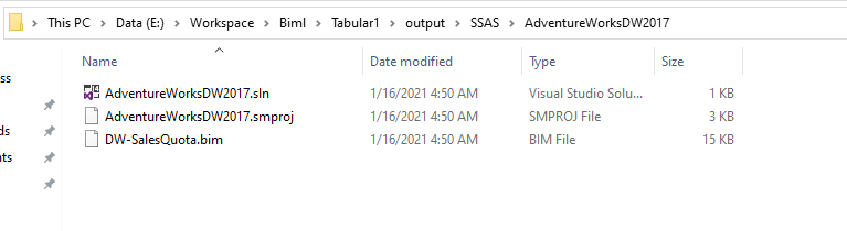 Created SSAS tabular model solution