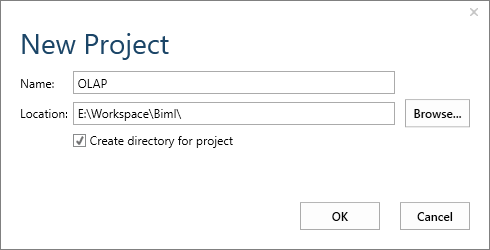 Creating a blank project