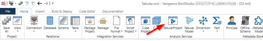 Creating a Tabular project