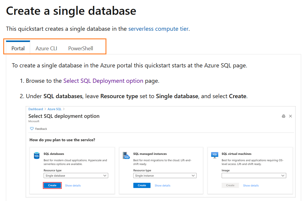 Integration of Microsoft docs and Azure Cloud Shell